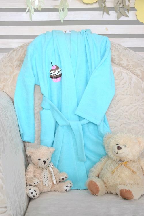 Детский халат из тонкой махры